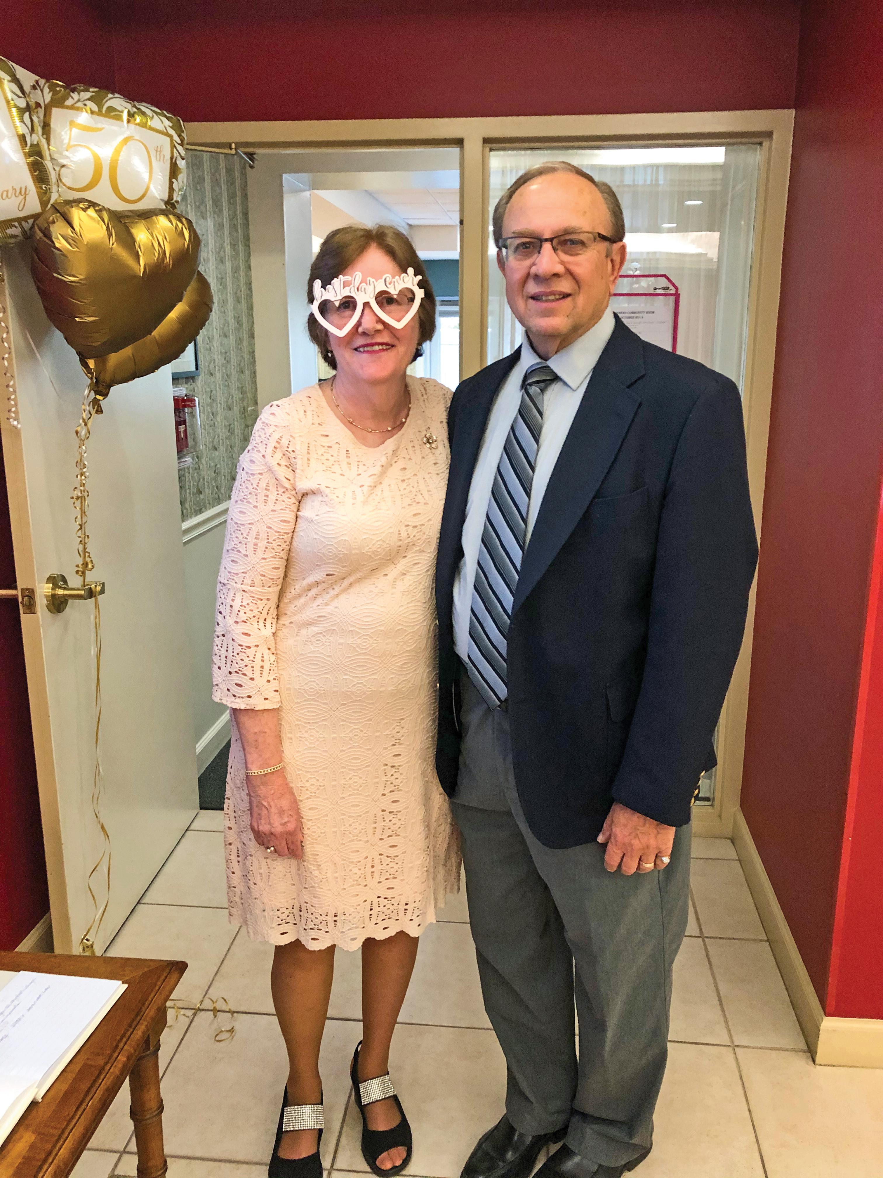 Shirley and Ken Aumack at their 50th wedding anniversary.