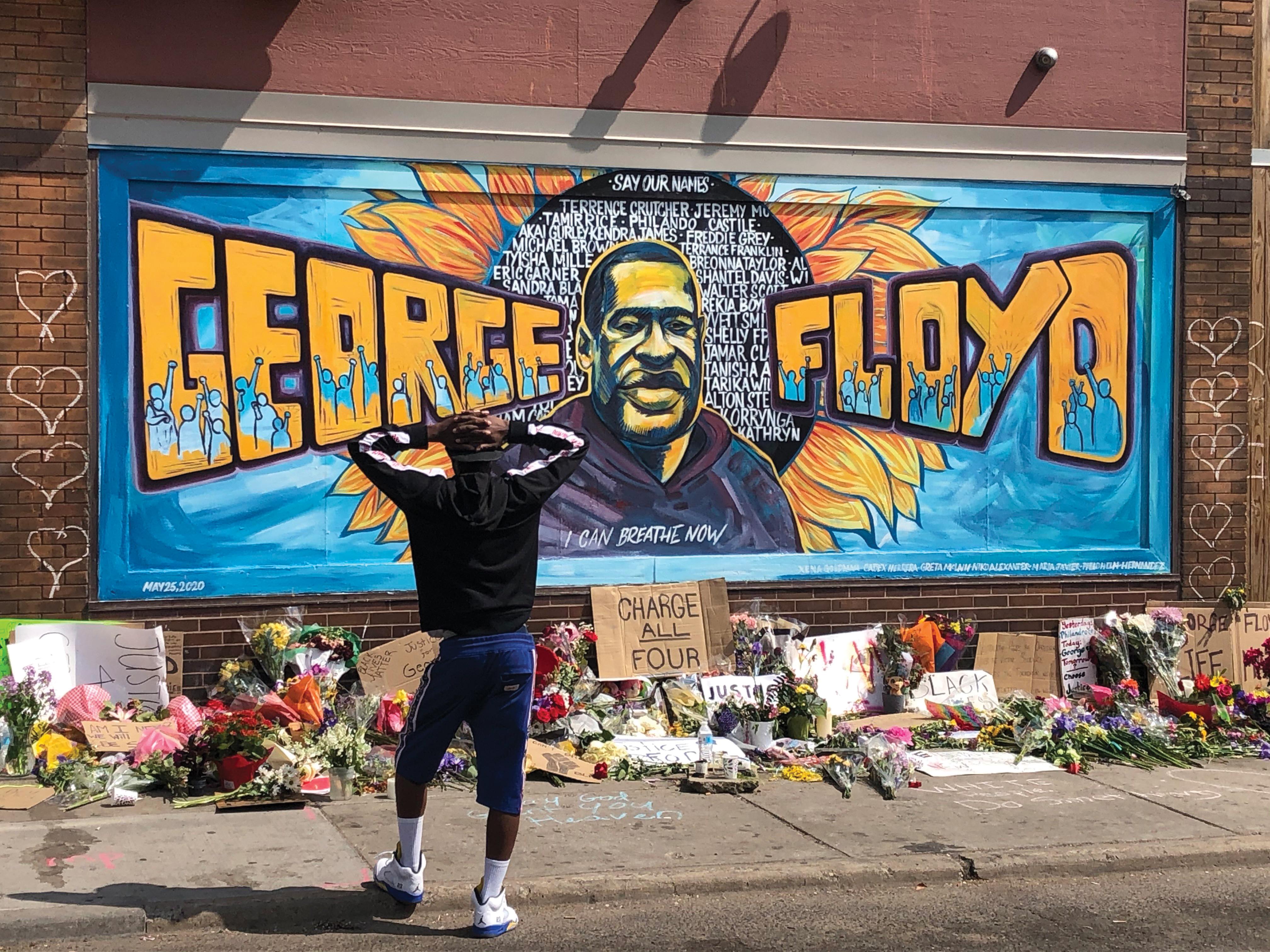 george floyd mural